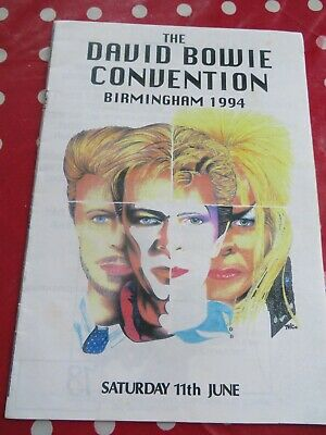 David Bowie - UK Convention - 1994 - Birmingham - Official Programme  • 8£