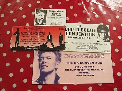 David Bowie - Ticket's - 4 X Different UK Convention Tickets - 1990's Job Lot • 13£