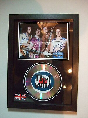 The Who   Signed  Gold Cd  Disc   938 • 21£