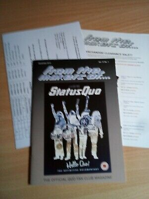 Status Quo Ftmo Fan Club Magazine December 2012 + Leaflets • 1.10£