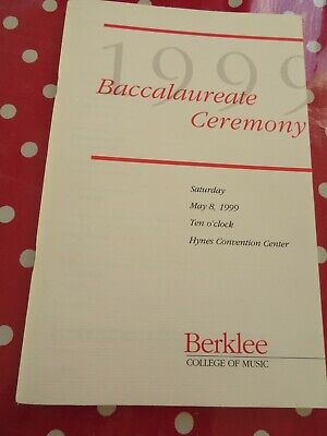 David Bowie -  Graduation Official Programme - Berklee Ceremony  USA 1999 -  • 12.50£