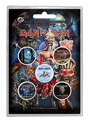 IRON MAIDEN Later Lps Badge Pack  • 2.99£
