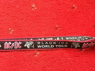 Acdc Rare Black Ice Back Stage Pass Lanyard Angus Malcolm Young Brian Johnson  • 35£