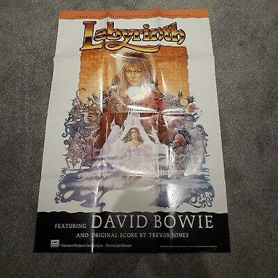David Bowie Labyrinth 1986 Promotional Poster • 15£