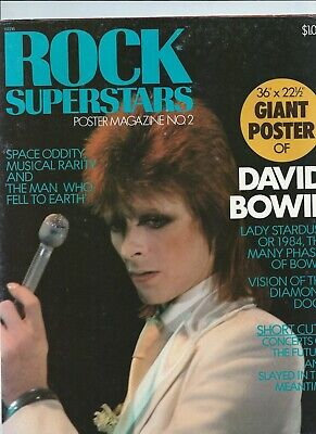 David Bowie Rock Superstars Poster Magazine • 20£