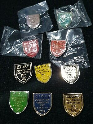 Queen Fan Club Convention Official Badges X 10 Oldest Is 1992 • 35£