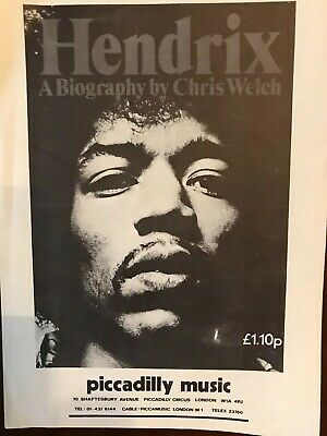 Jimi Hendrix Flyer (Double Sided) - Original From 1972 Biography Launch - EX  • 44.99£