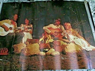 Vintage Abba Poster Large 38  Inch X 27 Inch Fernando  Group Pic Free P+p • 20£