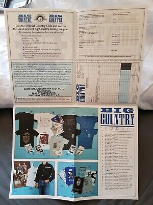 Big Country Rare Vintage ACME Official Product Fanclub Catalogue Brochure Mint • 7.95£
