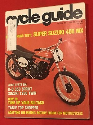 Vintage Cycle Guide Magazine-motorcyle-april 1971 • 15.79£