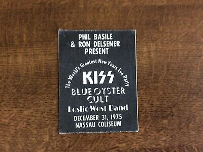 Kiss Gene Simmons Paul Stanley Backstage Pass 1975 New Years Eve Show • 10£