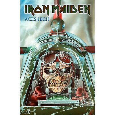 IRON MAIDEN ACES HIGH  Premium Fabric Poster / FLAG • 14.99£