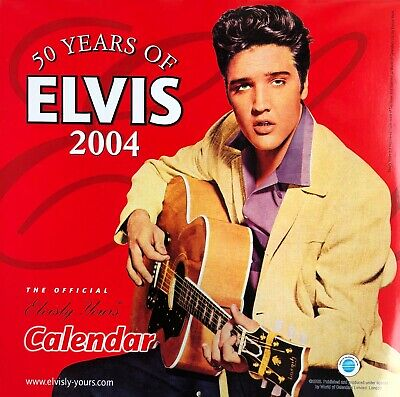 Ltd Edition 2004 50 Years Of Elvis Presley Official Calendar • 25.99£