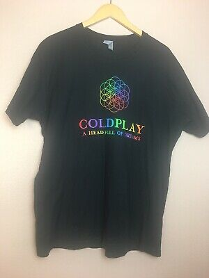 Coldplay Head Full Of Dreams World Tour T Shirt Sz XL 2016 • 7.97£