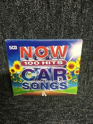 Now 100 Hits Car Songs (CD, 2019, 5-Discs, Various Artists) (CD)  New & Sealed • 6.60£