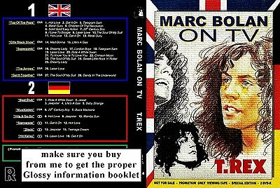 Marc Bolan - T.rex On Tv Double Dvd Set - Donated For Memorial Fund Raising :-) • 8.99£