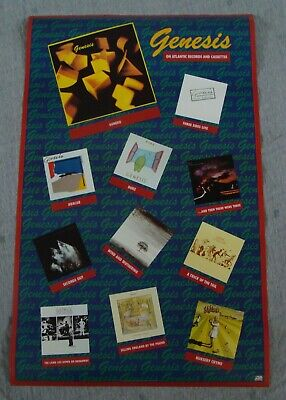 GENESIS Album Collection Poster ABACAB-LAMB LIES DOWN Original Record Store Prom • 15.74£