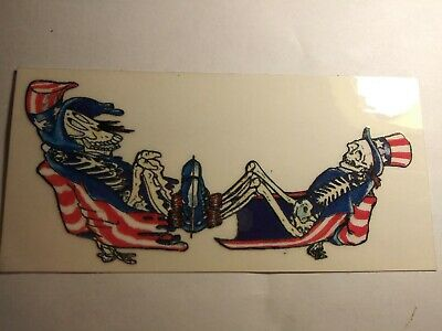 Grateful Dead Sticker Decal US BLUES VINTAGE SKELETONS 5.5 ×2.5  • 17£