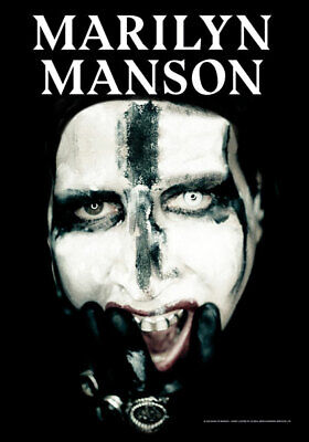 MARILYN MANSON Big Face  Textile Poster Fabric Flag   • 9.99£