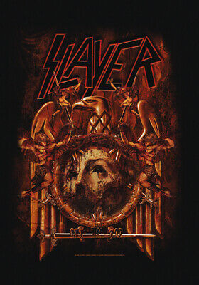 SLAYER Repentless Skull  Textile Poster Fabric Flag   • 9.99£