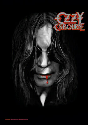 Ozzy Osbourne Blood Lips Textile Poster Fabric Flag   • 9.99£