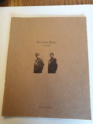 Pet Shop Boys Literally Issue 22 • 25£