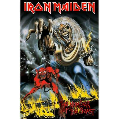 Official Licensed - Iron Maiden - Number Of The Beast Textile Poster Flag Eddie • 19.99£