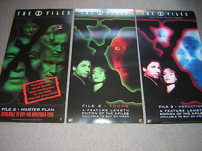 3 Original X-files Promotional Posters • 8.95£