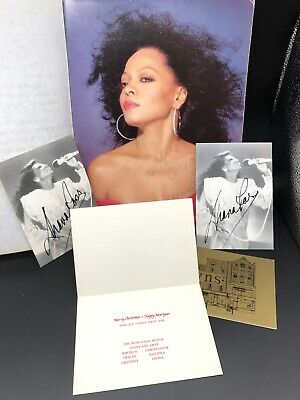 Amazing Diana Ross Personal Signed Autograph Memorabilia Christmas Card 1986 • 250£