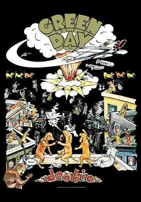 GREEN DAY Textile Poster Fabric Flag DOOKIE • 9.99£
