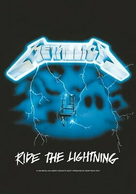 METALLICA Textile Poster Fabric Flag RIDE THE LIGHTNING • 9.99£