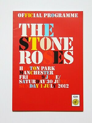 The Stone Roses  ~  Heaton Park 2012 ::: Manchester Programme • 12£