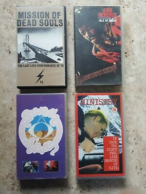 Gong, Throbbing Gristle, Ministry, 3 Great VHS Music Tapes - Live Concerts • 22.50£