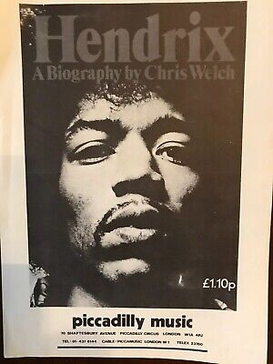 Jimi Hendrix Flyer (Double Sided) - Original From 1972 Biography Launch - EX  • 39.99£