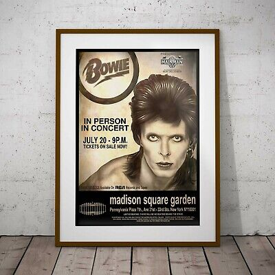 David Bowie 1974 Madison Square Concert Three Print Options Two Framed Options • 32.99£