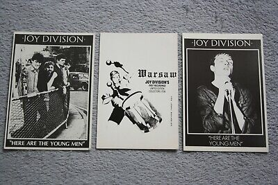 Vintage Ltd Joy Division Postcards X3 - Here Are The Young Men & Warsaw • 0.99£