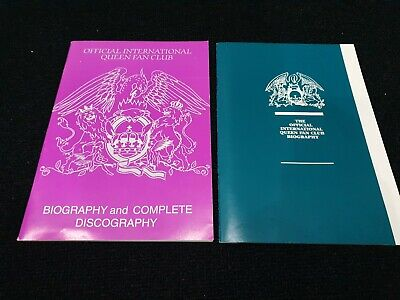 Official QUEEN 1989 And 1997 Fan Club Biography Book Magazine  • 9.99£