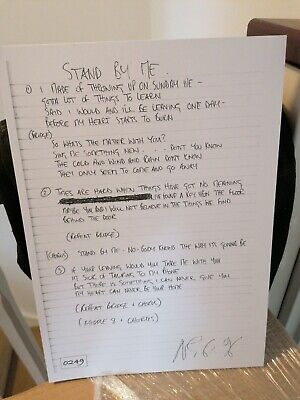 OASIS Stand By Me Ltd No# Lyric Sheet Official Noel Gallagher New  • 9.95£