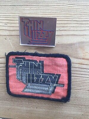 THIN LIZZY Rare Pin Badge And Sew On Patch • 0.99£