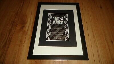 BUZZCOCKS New Material-Framed Original Advert • 12£