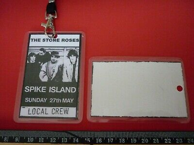 Stone Roses Spike Island 27th May 1990 Local Crew Pass With Lanyard • 5.99£
