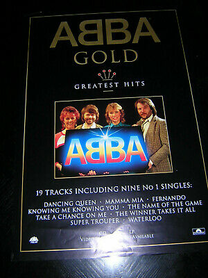 Original Promotional Abba Poster - Abba Gold • 9.95£