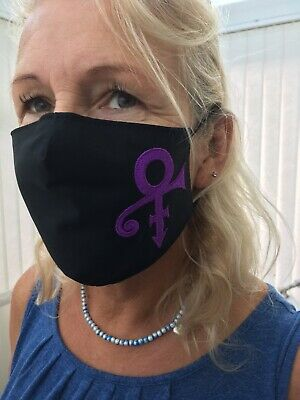 Prince Symbol Face Mask 100% Cotton Double Layer With Opening For Filter • 8.50£