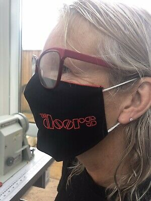 The Doors Face Mask 100% Cotton Double Layer With Opening For Filter • 5.99£