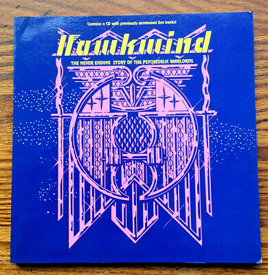 Hawkwind Book & CD Never Ending Story Of The Psych. Warlords Live In Space 1990 • 45.99£