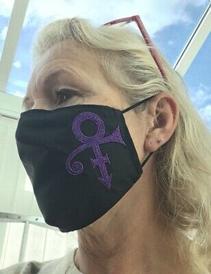 Prince Symbol Mask (metallic)100% Cotton Double Layer With Opening For Filter • 9.50£