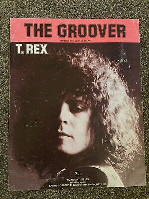 Marc Bolan T. Rex Groover Song Sheet • 10.50£