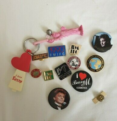 Barry Manilow Assorted  Pin Badges And Keyrings • 3£