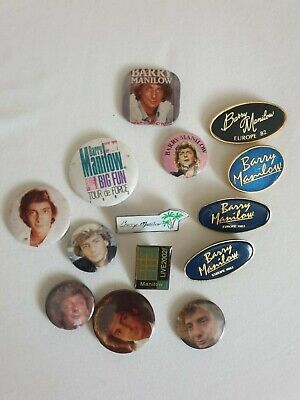 Barry Manilow Assorted  Tour Pin Badges • 3.50£