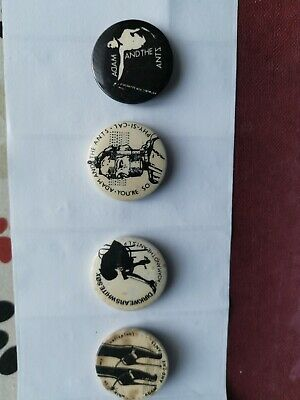 Adam And The Ants Very Early Vintage Pin Badges • 20£